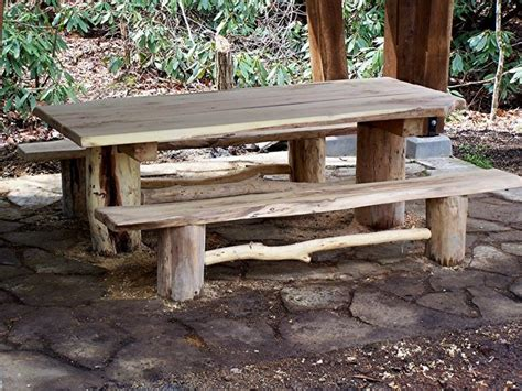 rustic outdoor picnic tables 145 best images about forest on outdoor