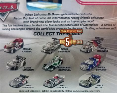 Mattel Disney Pixar Cars Troc Silver Racer Series Francesco Bernoulli mattel disney pixar cars silver racers return to the us take five a day
