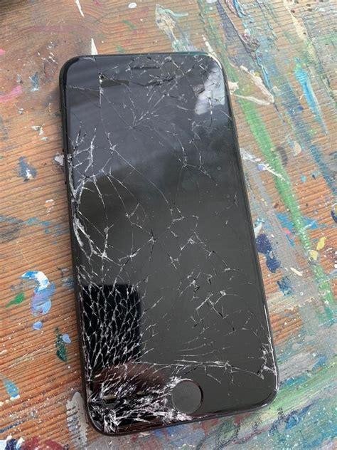 apple iphone  gb black att  partsbroken
