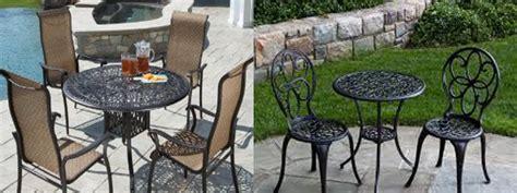 patio furniture 2014 a buyer s guide to cast aluminum patio furniture sets patio design trends