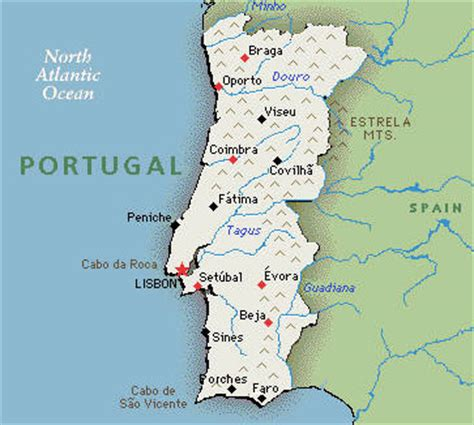 Porches Algarve Map by Portugal Hotels And Resorts
