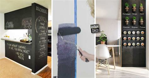 mur ardoise cuisine peindre un mur avec de la peinture ardoise 20 id 233 es pour