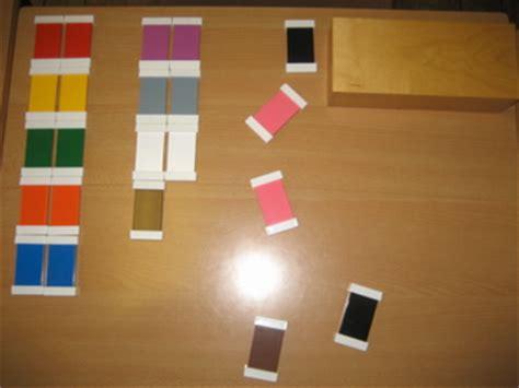 guide for color lesson montessori in detail color box 1 2