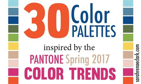 30 color palettes inspired by the pantone spring 2017 118 best pantone color trends images on pinterest color