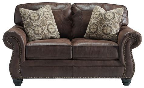benchcraft leather sofa benchcraft breville 8000335 faux leather loveseat with
