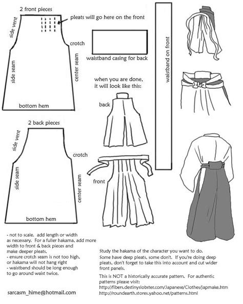 ninja gi pattern i made it by hand drafting a hakama pattern
