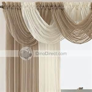 How To Hang Curtain Scarves Elegant Ruffle Waterfall Window Rod Pocket Valance