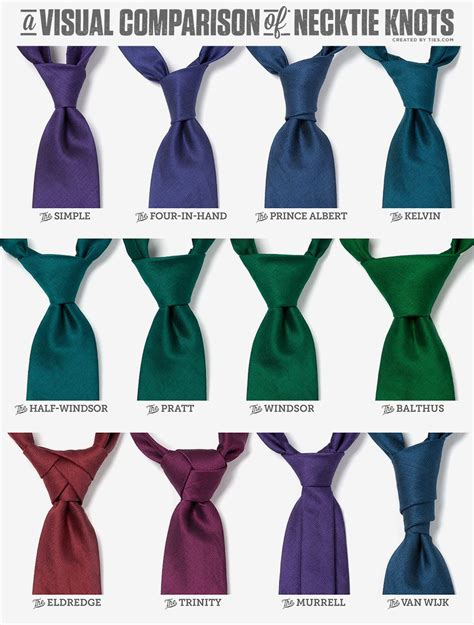 7 Of The Coolest Ties by A Visual Comparison Of Necktie Knots Http Www Ties