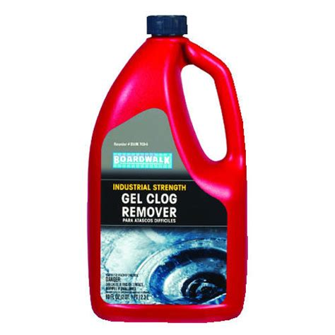 bathroom clog remover boardwalk heavy duty clog remover 80oz bottle 6 case sku