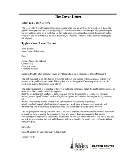 Cover Letter Header Template