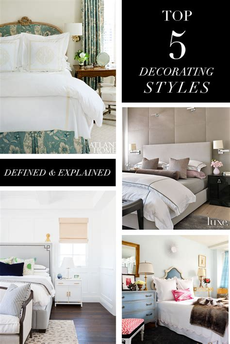 types of decorating styles top 5 decorating styles and bedroom themes