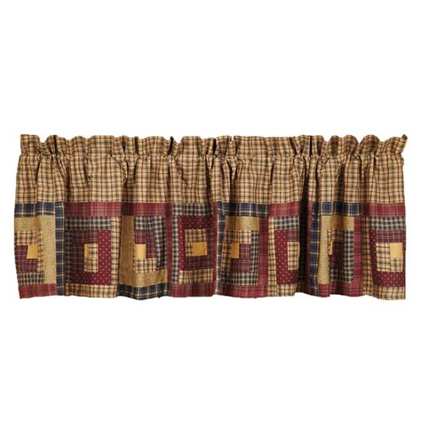 curtains for cabin millsboro log cabin block lined curtain valance