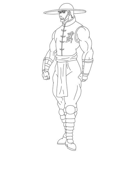 Free Mortal Kombat 9 Kung Lao Coloring Pages Mortal Kombat Coloring Pages
