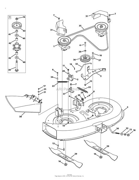 mtd mower deck diagram mtd 13am761f065 2009 parts diagram for mower deck 38 inch