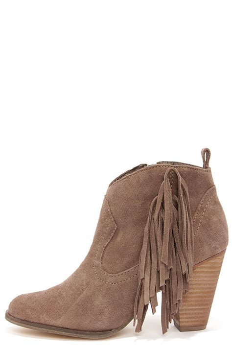 steve madden fringe boots taupe boots suede boots fringe boots ankle