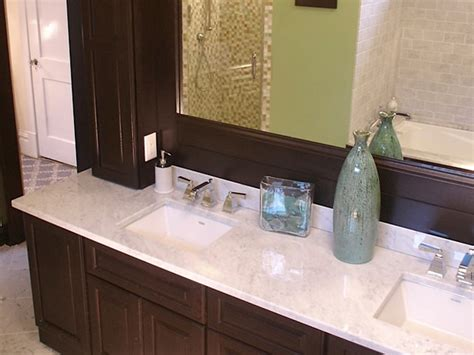 Countertop Cabinet Bathroom How To Install Cabinets On A Bathroom Countertop How Tos Diy
