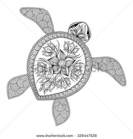 tribal turtle coloring page malbuch vorlagen f 228 rben and malb 252 cher on pinterest