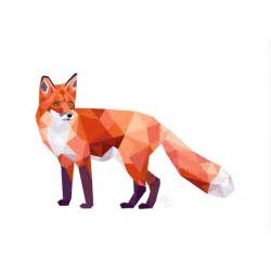 Mr fox standing geometric print giftware amp homeware junk