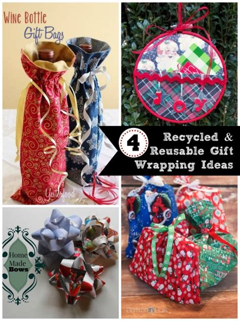 recycled gift ideas 4 gift wrapping ideas and the project stash