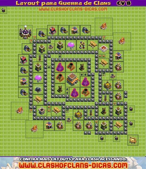 layout para cv 8 clash of clans layouts de cv 8 para guerra de clans clash of clans dicas