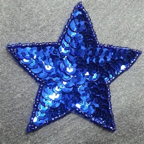 Molten 5 Size 5 Ff 550 3 Blue shape beaded sequin patch applique ff 550