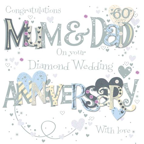 60th wedding anniversary greeting card cards kates