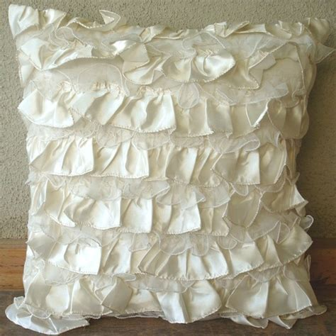 Vintage Pillow Covers by Vintage Heaven Throw Pillow Covers 20x20 Inches In Ivory