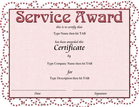 service certificate template sle service award certificate template 28 images 10 year