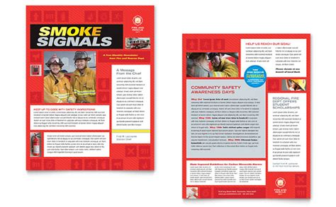 Fire Safety Newsletter Template Design Safety Brochure Template Free