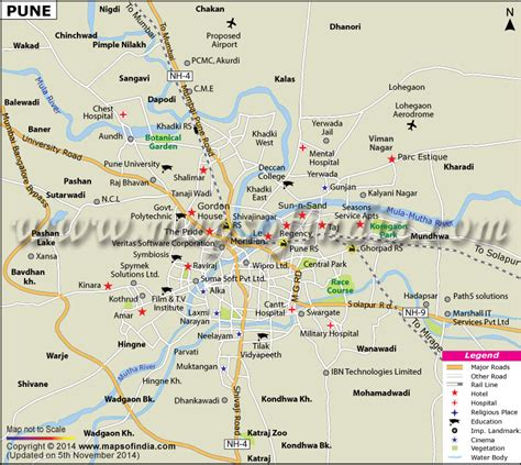 city map of pune pune map maharashtra city information and facts