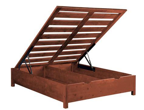 letti in legno letto contenitore legno massello idea la casa econaturale
