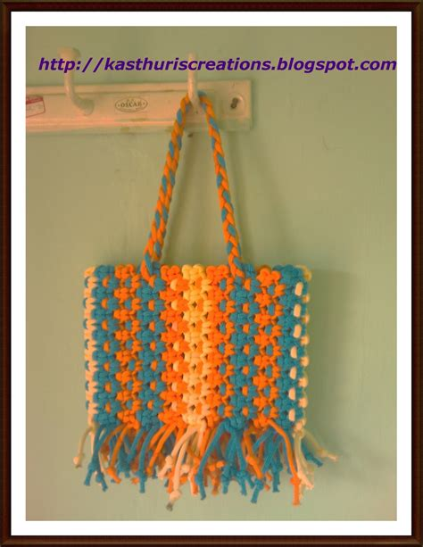 Macrame Thread Bags - manika macrame bags for