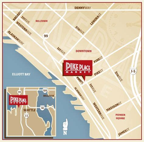 seattle map pikes market 21 best images about seattle vancouver trip on