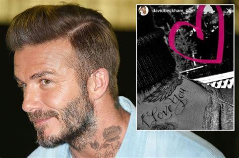 tattoo david beckham neck david beckham adds i love you and do it afraid tattoos