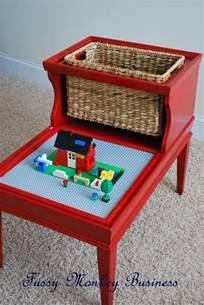 Upcycled Telephone Table - fussy monkey business lego table