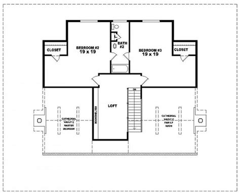 two and a half house floor plan 654117 one and a half story 3 bedroom 2 5 bath country style house plan house plans floor