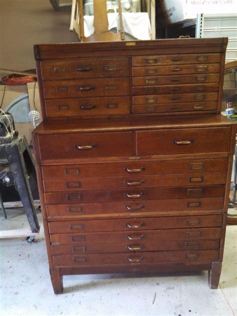 antique map file cabinet antique oak flat file chest 19 drawers architect artist