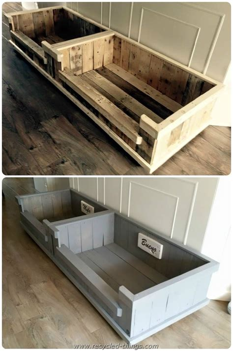 pallet dog bed diy projects with wooden pallets recycled things