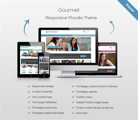 moodle themes professional moodle theme gourmet a new responsive moodle theme