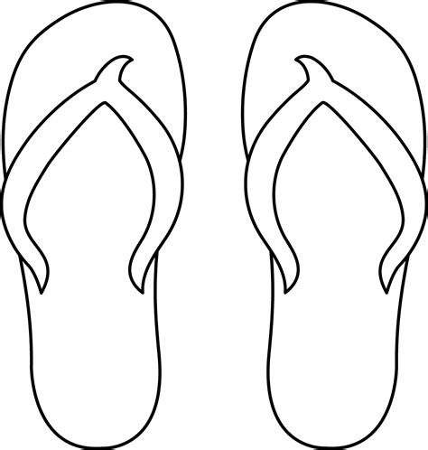 Flip Flop Coloring Pages plateau studio