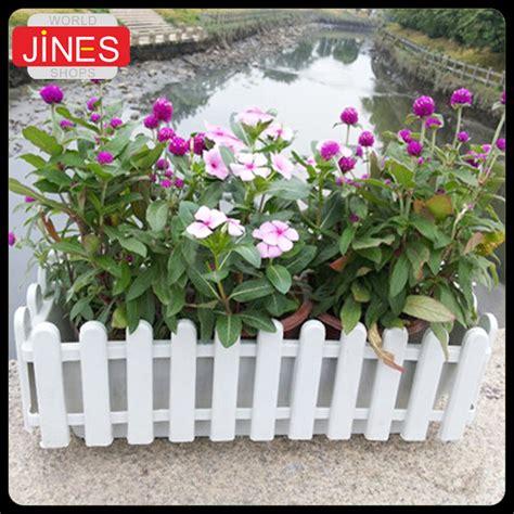 Pot Bunga Plastik Pagar persegi panjang plastik pagar resin sayuran hidroponik balkon pot bunga pot pembibitan