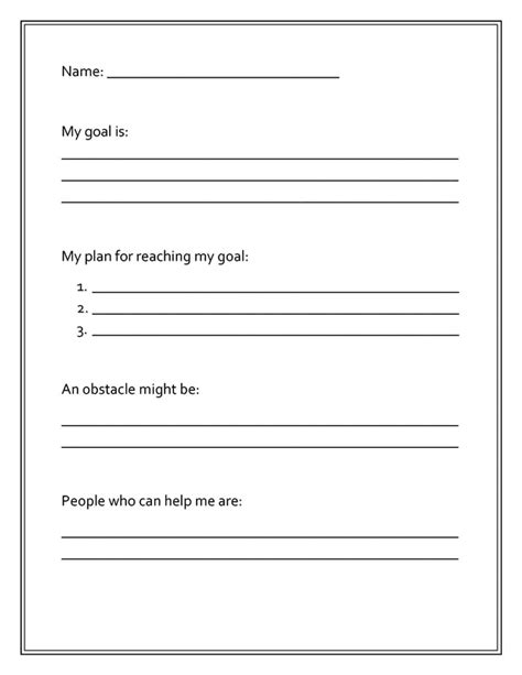 soccer goal setting worksheet worksheets and graphic organizers pcs elementary counselors resource center