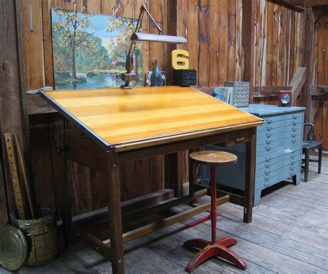 Vintage Wooden Drafting Table Wooden Drafting Table Creative Spaces For Work Pinterest Drafting Tables Vintage Drafting