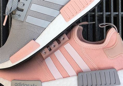 Adidas Nmd R1 Vapour Pink Light Onyx Grey 37 40 adidas nmd r1 vapour pink foot locker release sneakernews