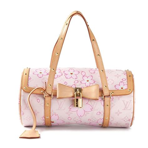 louis vuitton cherry blossom monogram barrel bag  stdibs