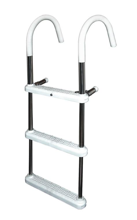 boat ladder aluminium 3 step 7 in hook anodized aluminum gunwale ladders 7