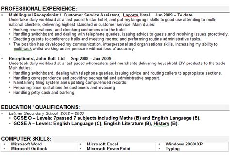 Personal Profile Resume Sample – The Resume Professional Profile Examples   RecentResumes.com