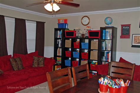 homeschool room the world is our classroom suitcases and sippy cups