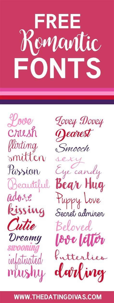 Wedding Running Fonts by The Ultimate List Of Free Fonts