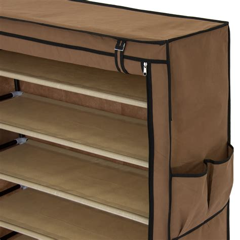 covered shoe storage best choice products covered 10 tier shoe rack cabinet